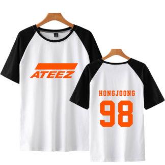 Ateez T-shirt White Hongjoong