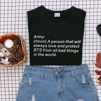 BTS Army definition shirt in black