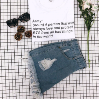 BTS Army definition shirt in white