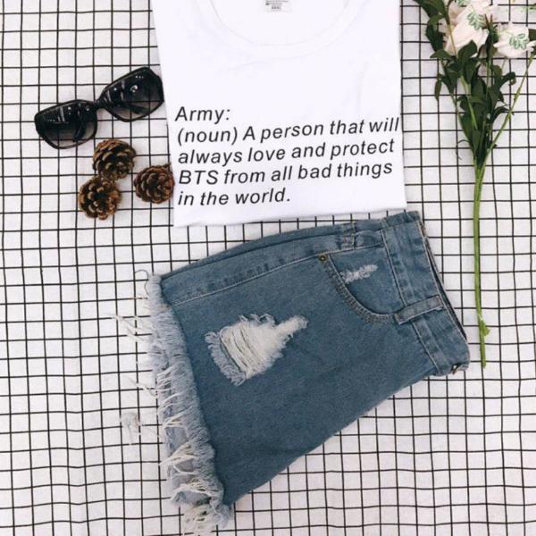 Camisa de definición btS Army en blanco