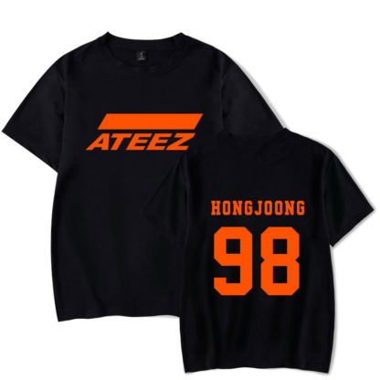 Ateez hongjoong shirt in black