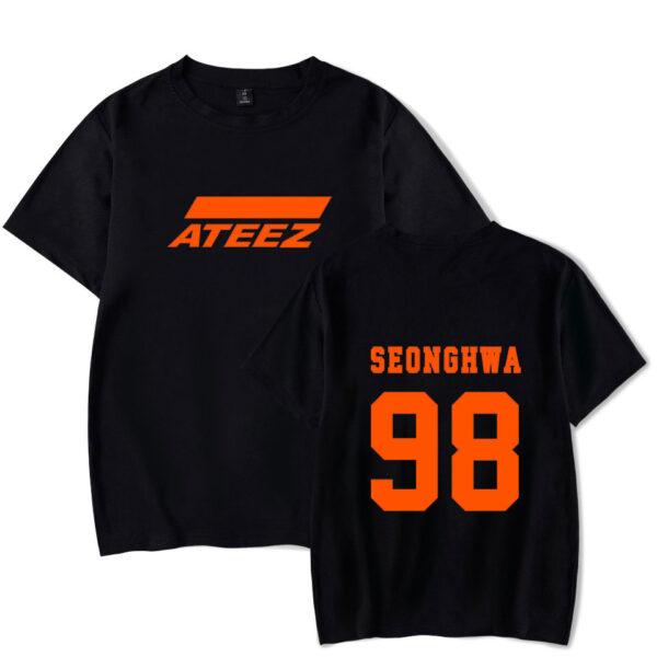 Camisa Ateez seonghwa en negro