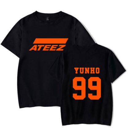 Ateez yunho shirt in black