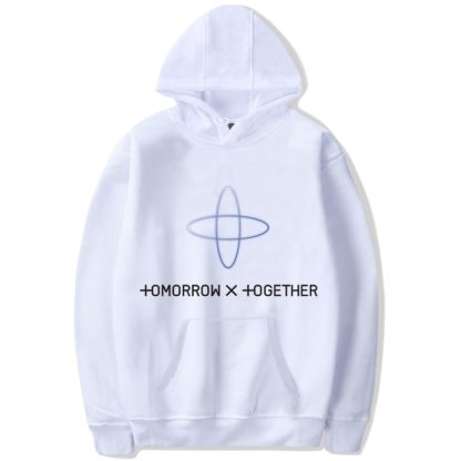 TXT Tomorrow X Together hoodie in white
