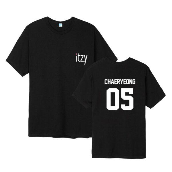 Camiseta ITZY Chaeryoung en negro
