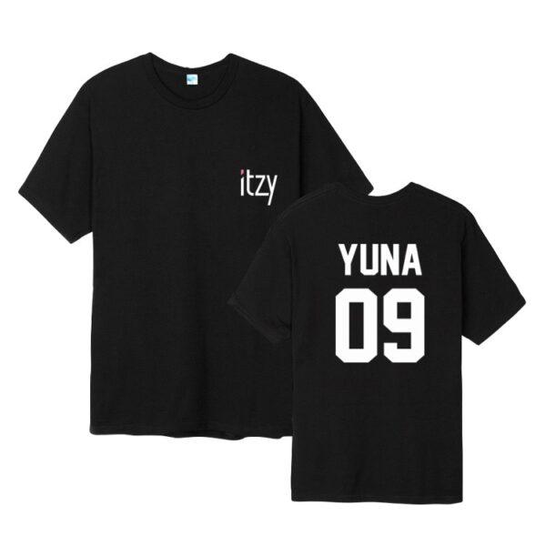 Camiseta ITZY yuna en negro