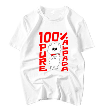 BTS Jin 100% Pure Alpaca t-shirt in white