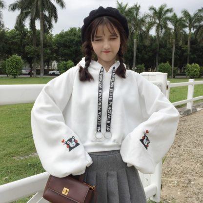 Kumamon hoodie in white