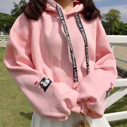 Kumamon hoodie in pink