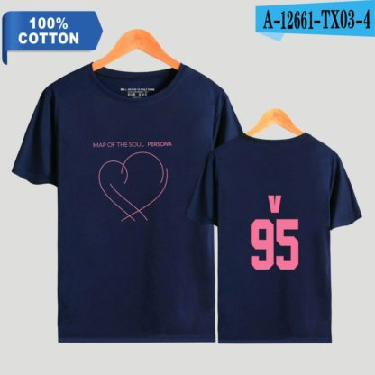 BTS Map of the Soul: Persona V t-shirt in blue