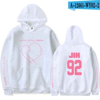 BTS Map of the Soul: Persona Jin hoodie in white