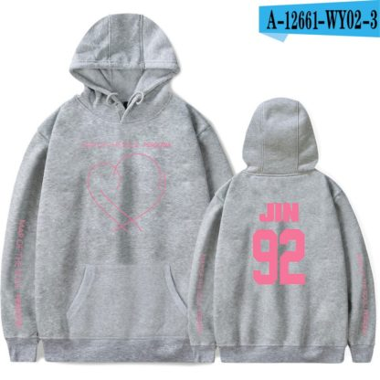 BTS Map of the Soul: Persona Jin hoodie in grey