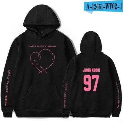 BTS Map of the Soul: Persona Jungkook hoodie in black