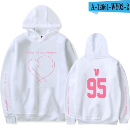 BTS Map of the Soul: Persona V hoodie in white