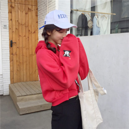 Kumamon hoodie in red