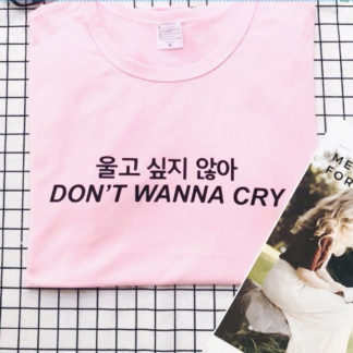 Seventeen Don't Wanna Cry tshirt in pink