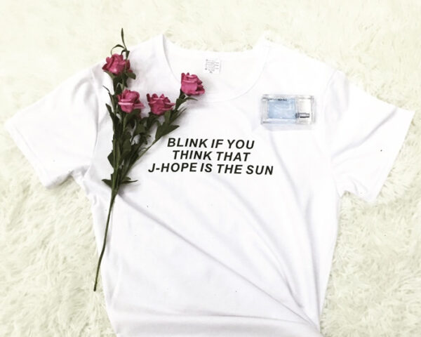 Blink if you think that j-hope is the sun tshirt in white