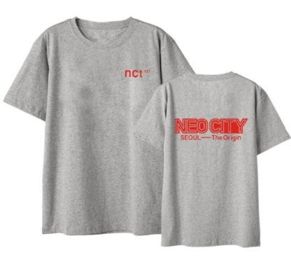 NCT 127 neo city seoul t-shirt in grey
