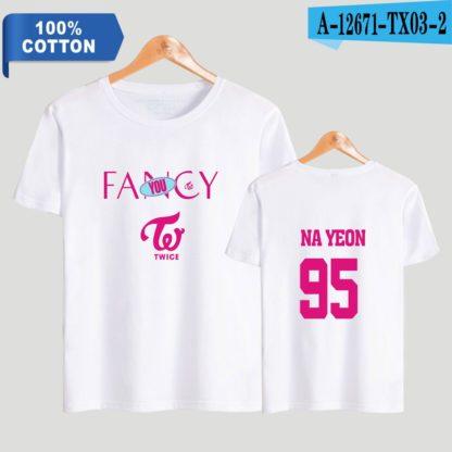 TWICE fancy t-shirt nayeon in white
