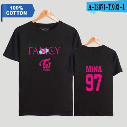 TWICE fancy t-shirt mina in black