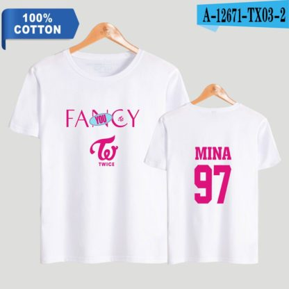 TWICE fancy t-shirt mina in white