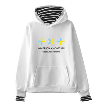 TXT hoodie in white