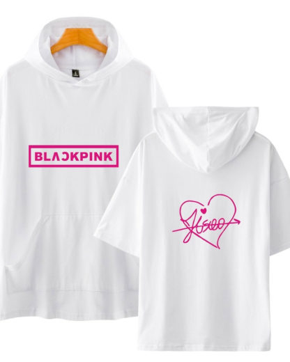 Blackpink signature hoodie in white