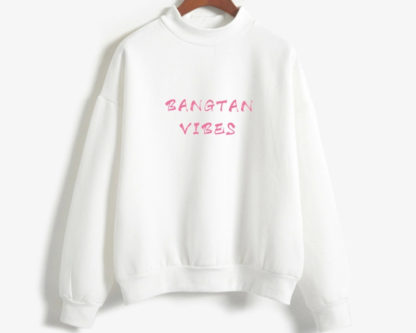 Bangtan Vibes sweater in white