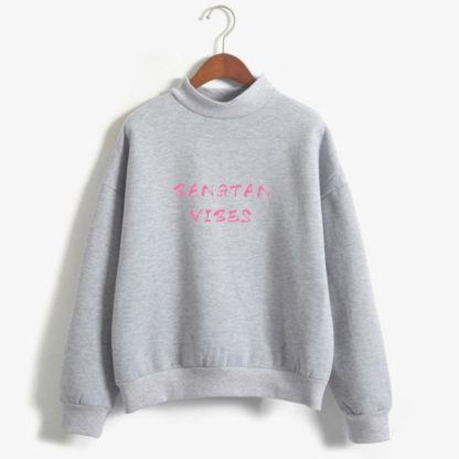 Bangtan Vibes sweater in grey