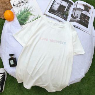 BTS Love Yourself Shirt en blanc