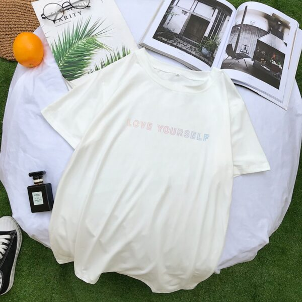 BTS Love Yourself Shirt in weiß