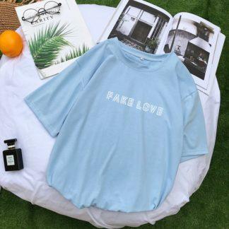 BTS Fake Love Shirt en bleu