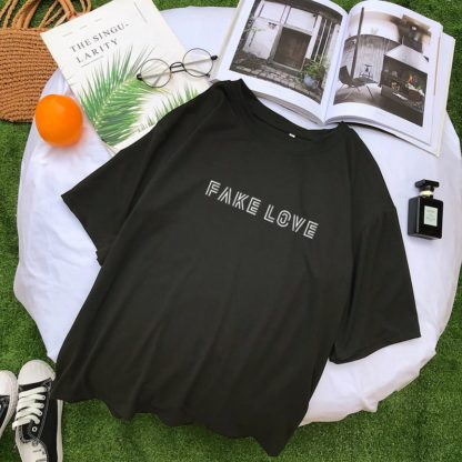 BTS Fake Love Shirt in black