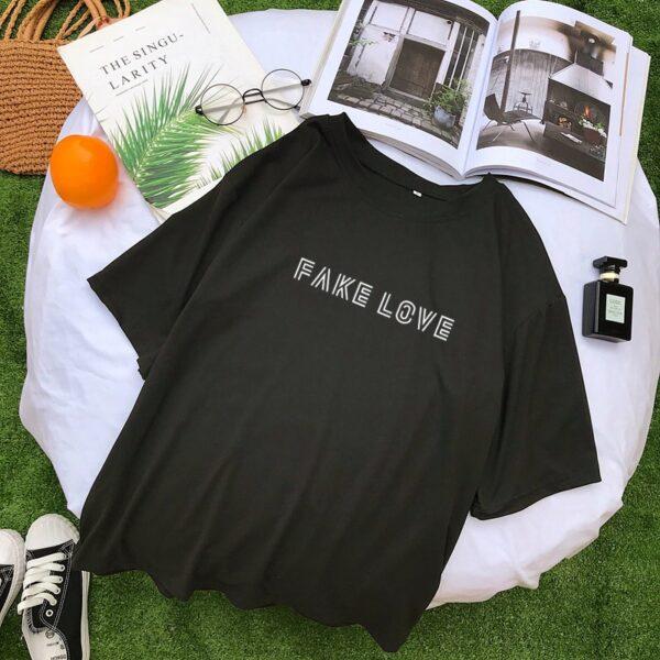 BTS Fake Love Shirt in black