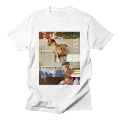 BTS Love Yourself Printed Shirt in white