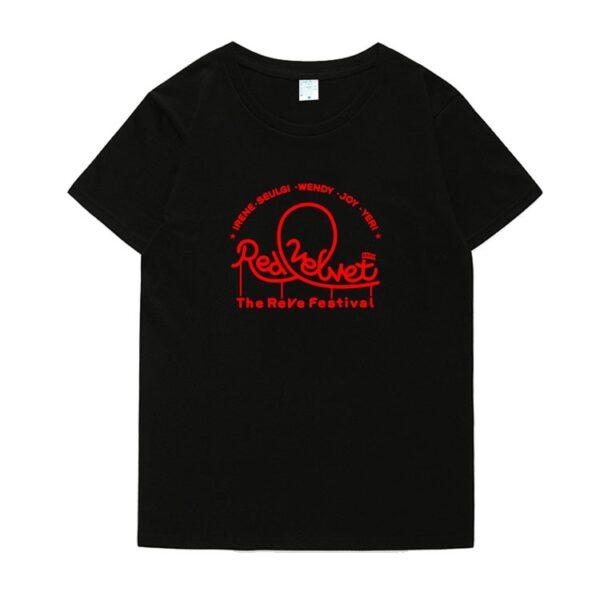 Camiseta Red Velvet Revefestival Album en negro