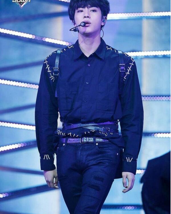 Kpop BTS Jin leather body harness