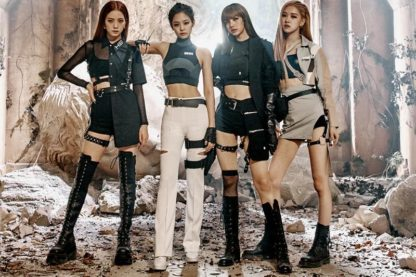 Blackpink leather harness fashion