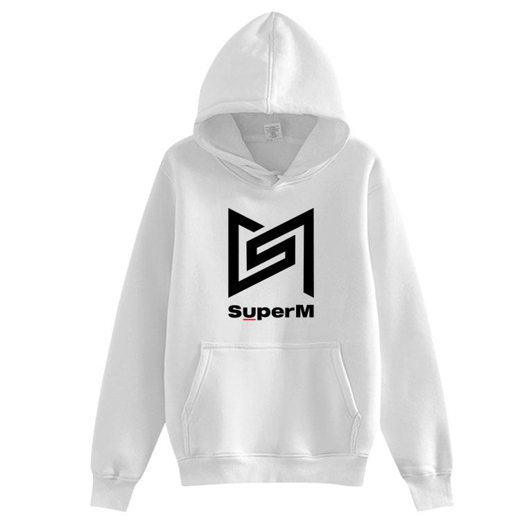 Kpop SuperM Album Damen Kapuzenpullover Hoodie Unisex Sweatshirts Sweater Coats