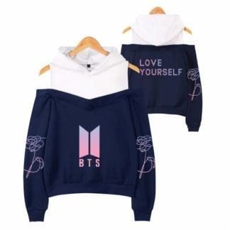 BTS Love Yourself Off Shoulder Hoodie