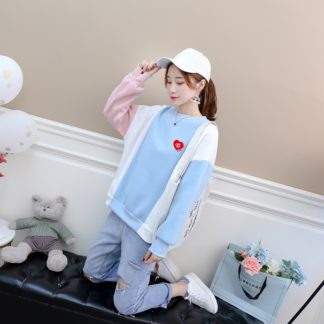 twice sweater in pink and blue