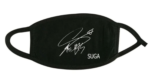BTS face mask Suga