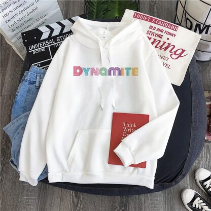 BTS dynamite white hoodie