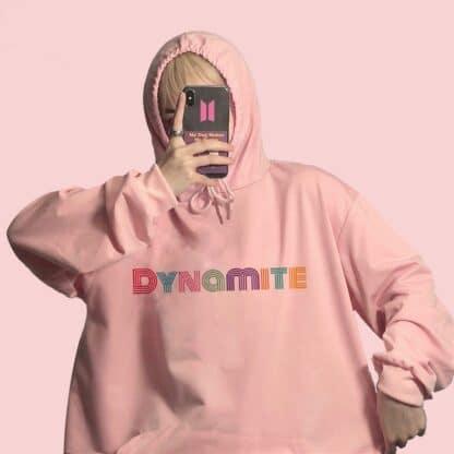 BTS dynamite pink hoodie